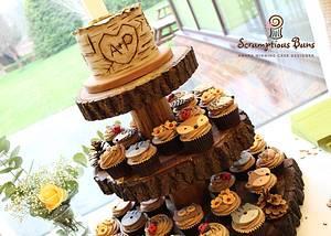 Woodland Wedding Cupcake Tower - Cake by Scrumptious Buns