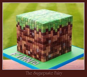 Minecraft  - Cake by The Sugarpaste Fairy