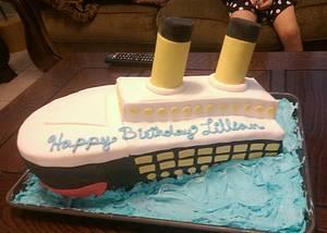 Lillians Titanic - Cake by Cinnemin Gurl