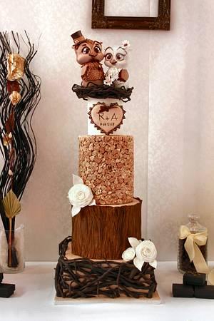 Mr. & Mrs Owl say I dooooooooo  - Cake by Artym