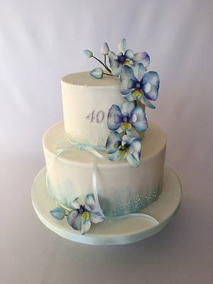 Blue orchid cake - Cake by Layla A