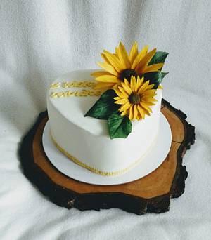 Sunflowers - Cake by Anka