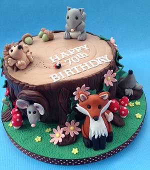 Woodland Friends - Cake by Caron Eveleigh