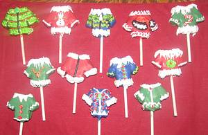 Ugly Sweater cake pops/to go with cake  - Cake by Laura