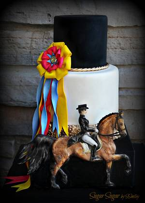 """""""Dressage"""" - Sport Cakes for Peace Collaboration - Cake by Sandra Smiley"""