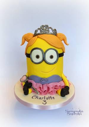 Princess Mnion Cake - Cake by Spongecakes Suzebakes