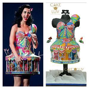 Katy perry dress cake - Cake by Cake O'Luv - megha