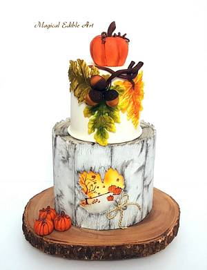 Autumn-Inspired Cake - Cake by Zohreh