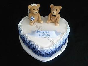 Blue ombre frill teddies - Cake by Cake Temptations (Julie Talbott)
