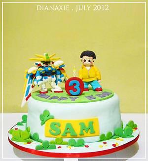 Gundam Cake - Cake by Diana
