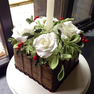 Christmas Basket - Cake by BeaisforBaking