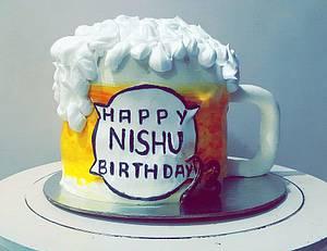Beer mug cake - Cake by Juhi goyal