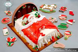Sleeping Santa Claus Cake - Cake by MLADMAN
