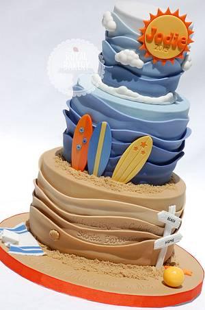 Beach Graduation Cake - Cake by Lesley Wright