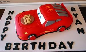 Lightning McQueen Cake! - Cake by Loren Ebert
