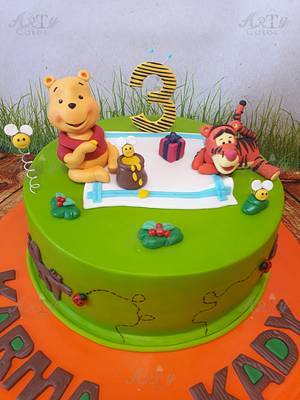 Winnie the pooh cake  - Cake by Arty cakes