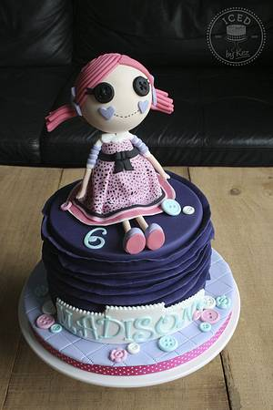 My daughter's Lalaloopsy Cake :) - Cake by IcedByKez
