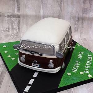 VW Camper Van - Cake by Karens Crafted Cakes