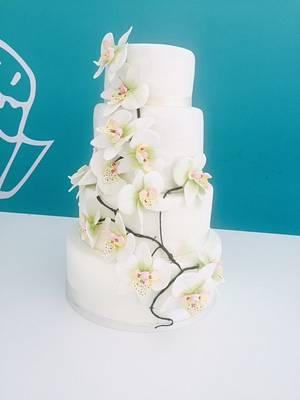 Wedding Cake Orquidea  - Cake by Irene Gutiérrez- Irene Bakery