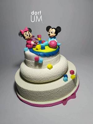 Baby Minie and Mickey - Cake by dortUM