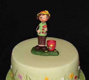 Flower pot - Cake by Anka