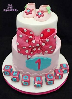 Polka dot and shoes  - Cake by Amelia Rose Cake Studio