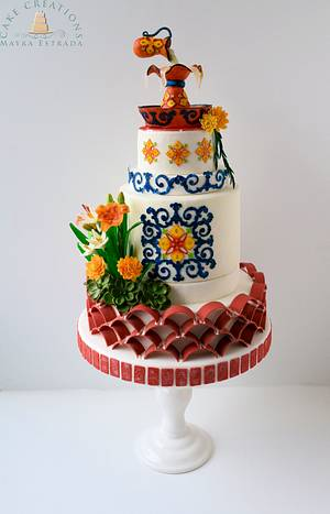 Andalusian Gardens of Old Spain - Gardens Of The World Cake Collaboration - Cake by Cake Creations by ME - Mayra Estrada