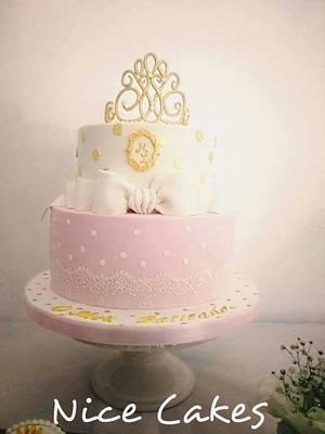 Princess christening cake - Cake by Paula Rebelo