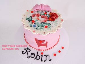 Chi N' Roses - Cake by Sharon A./Not Your Average Cupcake