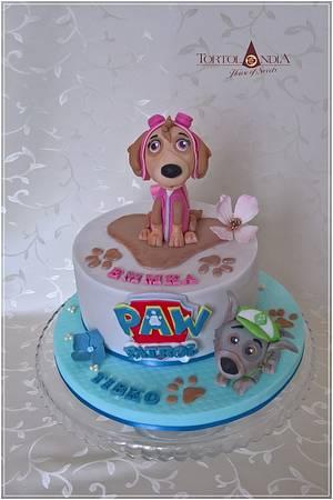 Sky & Rocky Paw Patrol - Cake by Tortolandia