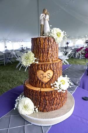 Tree Stump Wedding Cake - Cake by Custom Cakes by Ann Marie
