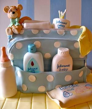 Babyblue baby shower cake - Cake by Lynette Horner