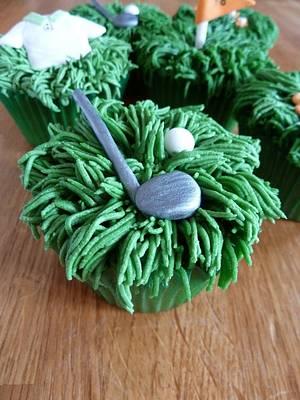 30th Birthday Cupcakes - Golf Theme - Cake by Sian