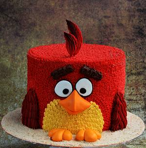 RED !!  - Cake by Hima bindu