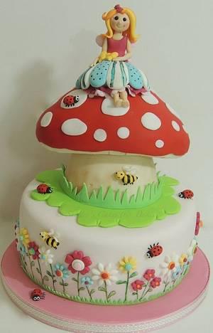 Fairy toadstool cake - Cake by Shereen