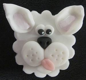 Fondant puppy cupcake topper - Cake by Steel Penny Cakes, Elysia Smith