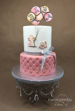 Cute bunny baby shower cake - Cake by CuriAUSSIEty  Cakes