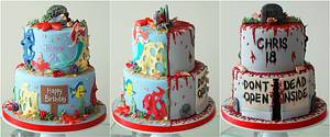 2 tier split themed cake - Cake by Sweet Additions