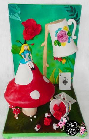 Alice's Little Wonderland - Cake by Josie Durney