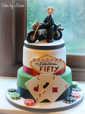 Las Vegas / Biker themed cake - Cake by Louise Jackson Cake Design