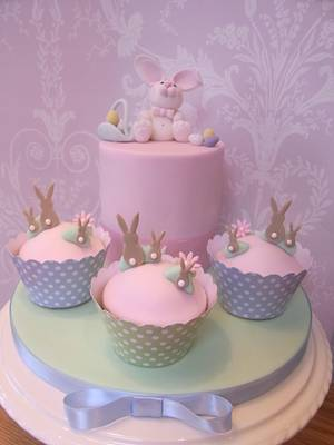 Easter Bunny Cake...x. - Cake by Lulu Belles Cupcake Creations
