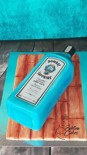 SAPPHIRE Gin Cake - Cake by Zaklina