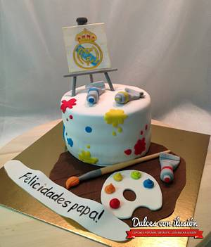 Cake for a painter - Cake by Dulces con ilusion