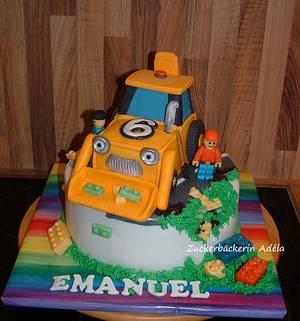 LEGO - road works cake - Cake by Adéla