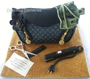 3D LV Purse Cake  - Cake by DeliciousDeliveries