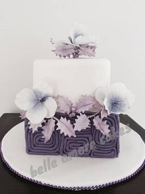 A purple Christmas - Cake by Belle Amore Cakes