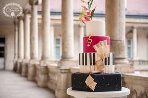 Musical wedding cake - Cake by Cofetaria Dana