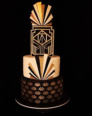 Art deco style - Cake by The Hot Pink Cake Studio by Ipshita