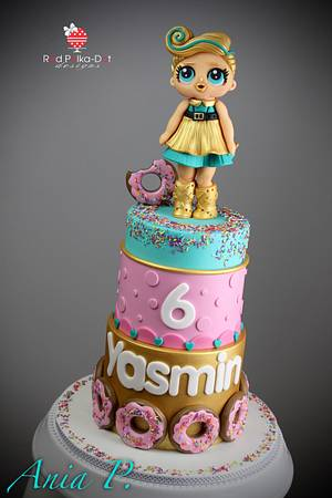 LOL Luxe doll  - Cake by RED POLKA DOT DESIGNS (was GMSSC)