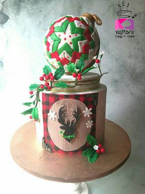 Deck the halls with boughs of Holly  - Cake by Chanda Rozario